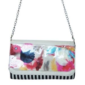 Betsey Johnson Playground Ivory Clutch